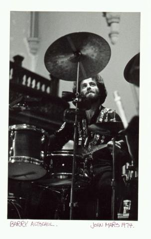 """Barry Altschul at Trinity Church, Toronto 1974"""