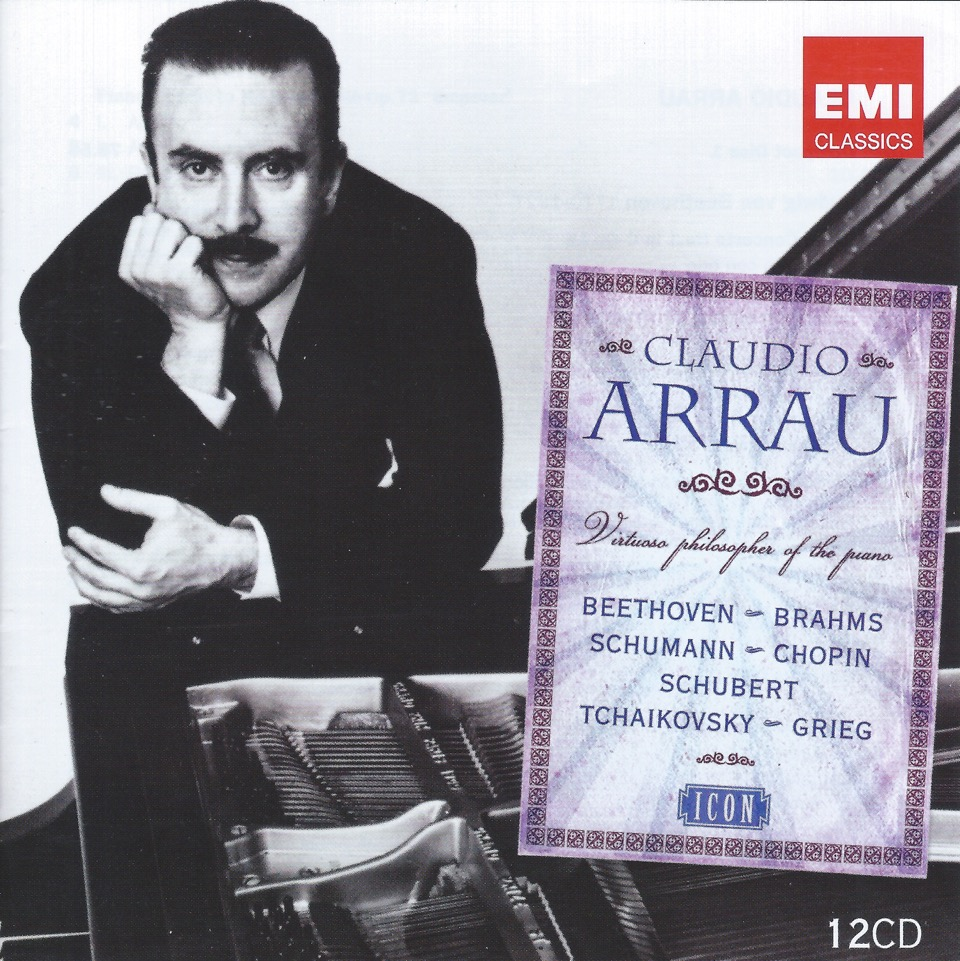 "CLAUDIO ARRAU ""Virtuoso Philosopher Of The Piano"" 12CD Box Set"
