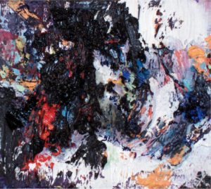 """""""Painting"""" 2004-2005 oil and wax on panel 3 5/8"""" x 4 1/8"""""""