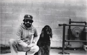 photograph of Kenny Marco and, his (blind) dog Odessa by johnmars.com 1981