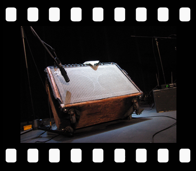 Jack deKeyzer's highly distressed Fender Twin amp