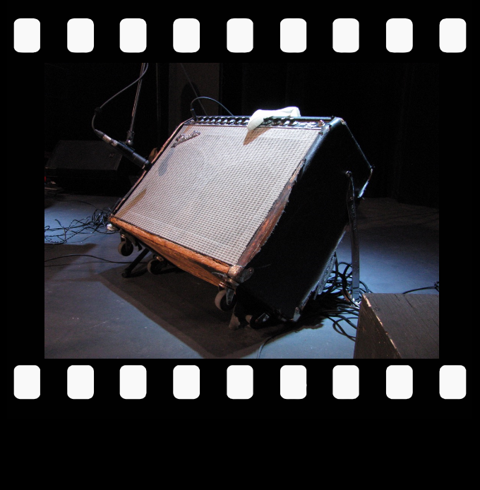 Jack deKeyzer's road worn Fender twin reverb amp went into service around 1991