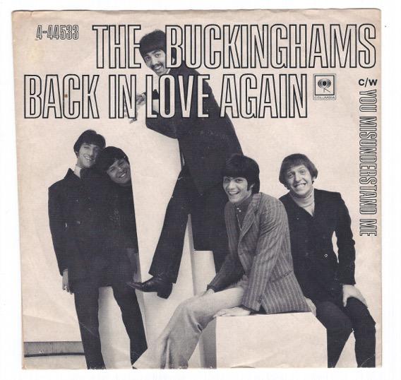 "THE BUCKINGHAMS ""Back In Love Again"" 45rpm"