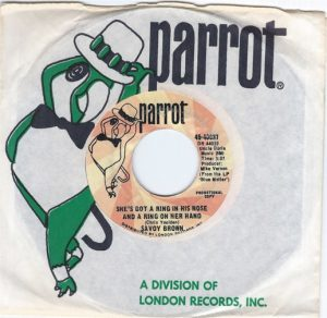 "SAVOY BROWN ""She's Got A Ring In His Nose And A Ring On Her Hand"" 45rpm"