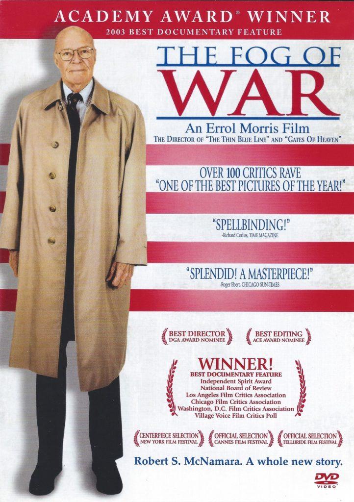 "ROBERT McNAMARA ""The Fog Of War"" DVD documentary film"